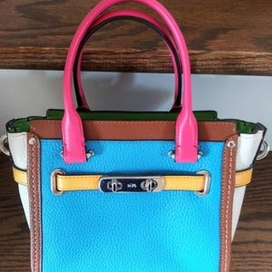 Coach swagger style small bag- rainbow colors